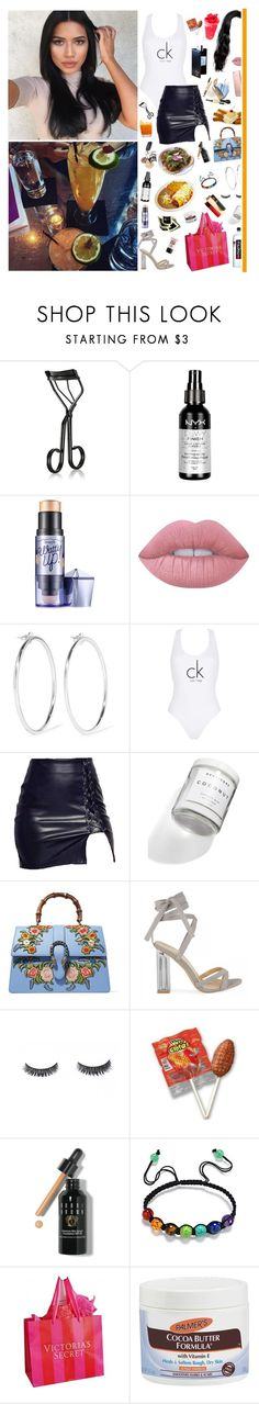 """""""5/7/17"""" by alejandra-q ❤ liked on Polyvore featuring Market, Surratt, NYX, Benefit, Lime Crime, Garcia, Jennifer Fisher, Calvin Klein, Herbivore and Gucci"""