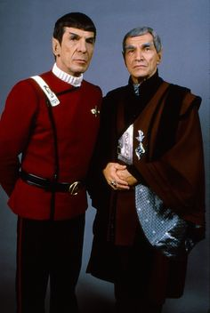 Leonard Nimoy and Mark Leonard - Spock and Sarek from ST IV: The voyage home, 1986.