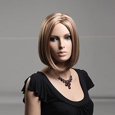 High Quality New Sexy Fashion Short Straight Bob Wigs Synthetic Dark Brown Women Hair -- Read more reviews of the product by visiting the link on the image.(This is an Amazon affiliate link and I receive a commission for the sales)