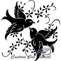 Glass Etching Designs Adore These Birds Stencils Silhouette