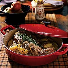 Rosemary Pork Tenderloin with Harvest Apples. I would usually be too lazy to make this, but it sounds amazing and I need to challenge myself.