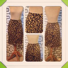 Ladies Animal Print Skirt size 6 Ready to Ship on Etsy, $34.00