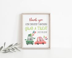 Drive By Treat Favors Sign Printable, Thank You For Driving Through Treat Sign, Birthday Parade Treat Sign, Social Distancing Party, Party Signs, Favors, Printables, Treats, Birthday, Etsy, Sweet Like Candy, Presents, Goodies