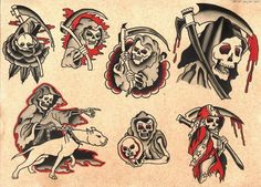 The Best Temporary Sailor Jerry Collection tattoos. Only EasyTatt Sailor Jerry Collection Tattoos Look Real, Use Your Own Design or Choose from Thousands of Designs. Traditional Diamond Tattoo, Traditional Flash, Traditional Tattoo Flash, American Traditional, Traditional Tattoo Grim Reaper, Traditional Tattoo Design, Flash Art Tattoos, Tattoo Flash Sheet, Cool Tattoos