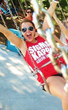 Go to an amusement park for a sisterhood event.  Definitely a must!