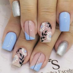 Glam Nails, Red Nails, Cute Nails, French Manicure Designs, Nail Designs, Acrylic Nails Pastel, Body Treatments, Flower Nails, Nails Inspiration