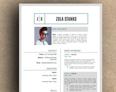 The Zola Resume Template by LeResume on @creativemarket