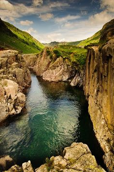 Blackmoss pot, the Lake District, England.
