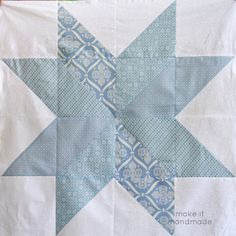 How to sew a big star baby blanket, showcasing your favorite fabrics, without quilting. An easy triangle sewing tutorial.