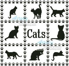 Thrilling Designing Your Own Cross Stitch Embroidery Patterns Ideas. Exhilarating Designing Your Own Cross Stitch Embroidery Patterns Ideas. Just Cross Stitch, Simple Cross Stitch, Cross Stitch Animals, Cross Stitch Charts, Cross Stitch Designs, Cross Stitch Patterns, Easy Cross, Cat Cross Stitches, Cross Stitch Samplers