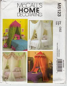 Canopies Bedroom Decor Decoration 4 Styles McCalls Sewing Pattern 5123 Uncut  FF