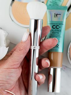 So the IT Cosmetics CC+ Cream Oil-Free Matte SPF 40 that I told you about yesterday is officially It Cosmetics Cc Cream, Most Beautiful, Essentials, Makeup, Beauty, Collection, Make Up, Beauty Makeup, Beauty Illustration