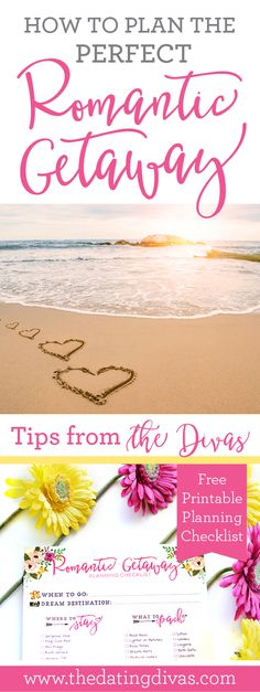 Plan the Perfect Romantic Getaway - ideas and checklist for your next anniversary trip!