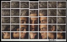 Benicio Del Toro photo collage portrait by Maurizio Galimberti