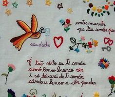 BORDADOS TRADICIONAIS PORTUGUESES: O pentagrama no lenço dos namorados tem a ver…