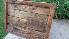 Svatava / Rám zo starého dreva - veľký Wood Crafts, Leather, Handmade, Home Decor, Hand Made, Decoration Home, Room Decor, Wood Turning, Craft