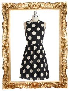 Spotted Downtown Dress - $54.99