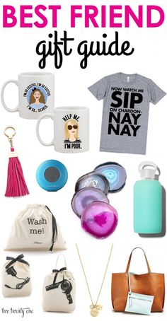 Best friend gift guide with gifts ranging in price from $10 to $80. Love these! Funny Best Friend Gifts, Bff Gifts, Easy Gifts, Creative Gifts, Homemade Gifts, Gifts For Friends, Cute Gifts, Great Gifts, Best Friends