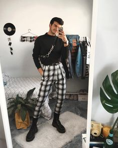 127 winter outfit street style for men trend – page 1 Fashion Mode, Aesthetic Fashion, Aesthetic Clothes, Urban Fashion, Mens Grunge Fashion, Street Fashion Men, Korean Fashion Men, Edgy Outfits, Retro Outfits