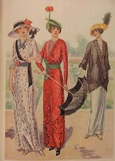 ๑ Nineteen Fourteen ๑ historical happenings, fashion, art & style from a century ago - Edwardian Fashion Plate 1914