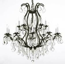 """Wrought Iron Chandelier Crystal Chandeliers Lighting H36"""" X W36"""""""