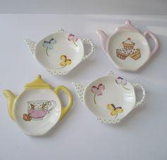 Pretty Pastel Tea Bag Holders