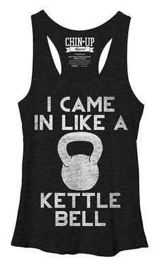 Black 'Like A Kettle Bell' Racerback Tank
