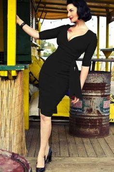 Vestido negro pin up