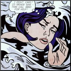 Drowning Girl by Roy Lichtenstein. Mounted print from Art.com. $74.99 (Check out more holiday gift ideas in our Mad For Modern gift guide: http://www.art.com/gallery/id--b709188/mad-for-modern-posters.htm?rfid=097383)
