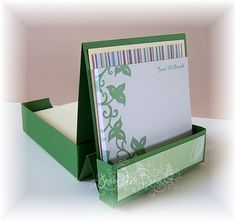 Cards Made By Hand: Desk Tidy Tutorial (back view) Click on link for step by step tutorial.