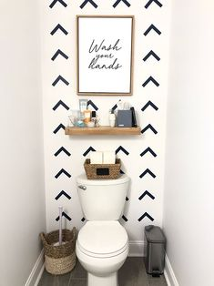 6 Must-Have Guest Bathroom Essentials - Organized-ish by Lela Burris DIY wallpaper with Cricut Diy Bathroom, Bathroom Rules, Bathroom Prints, Guest Bathrooms, Bathroom Essentials, Downstairs Bathroom, Bathroom Interior, Bathroom Toilet Wallpaper, Bathroom Ideas