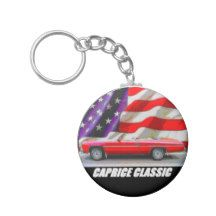 1975 Caprice Classic Convertible Basic Round Button Keychain