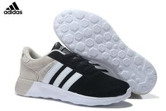 half off 4d302 143ac MensWomens Unisex Adidas NEO Lite Racer Shoes BlackWhiteGrey,Adidas