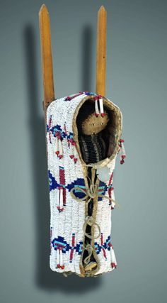 Cheyenne Cradle and Doll. This and more important Native American art for sale on CuratorsEye.com