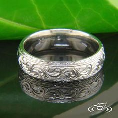 ANTIQUE SCROLL ENGRAVED BAND #GreenLakeJewelry