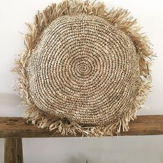 JUMBO round Raffia Cushion Covers.. Bring the Island style to your home with these babes..  @islandlivinghomewares Buy them online www.islandlivinghomewares.com.au #raffia #cushion #afterpay #shoponline #style #livingroom #bedroom #chinesedrum #wallart #coral #shell #style #shellchandelier #lighting #palm #sideboard #consoletable #coffeetable #benchseat #elm #rustic #coastalhome #basket #decorate #homewares #lantern #coaster #placemat #bohostyle