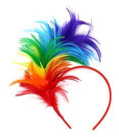 Felizhouse Fascinator Feathers Headband for Women Kentucky Derby Wedding Tea Party Headwear Girls Flapper Headpiece - A Rainbow Flapper Headpiece, Fascinator Headband, Feather Headband, Fascinators, Gatsby Themed Party, Cosplay Hair, Tea Party Wedding, Prom Queens, Hair Hoops