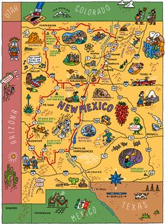 MAP OF NORTHERN NM northern new mexico Maps Pinterest Santa