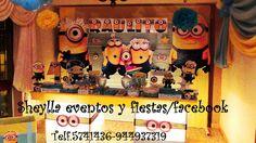 Decoración temática de Minions .Lima-Perú                             Correo: sheylla_eventos@hotmail Telf.5741436-944937319     Facebook: Sheylla eventos y fiestas/facebook