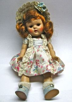 Vintage Vogue Early Strung Ginny Cheryl 52 Doll Outfit Centersnap Shoes Stunning