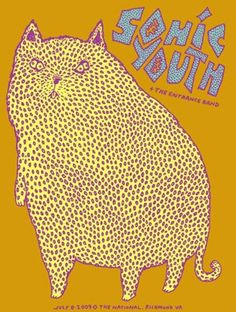 Sonic Youth Concert poster by Dennis Tyfus Rock Posters, Band Posters, Concert Posters, Music Posters, Gig Poster, Toulouse, Rock And Roll Fantasy, Illustration Photo, Experimental Music