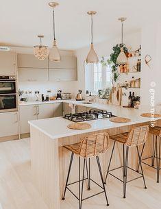 Kitchen Room Design, Home Room Design, Modern Kitchen Design, Home Decor Kitchen, Kitchen Living, Interior Design Kitchen, Home Kitchens, Interior Home Decoration, Best Home Design