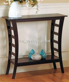 CONTEMPORARY FURNITURE WOOD CONSOLE DISPLAY ACCENT TABLE WALNUT FINISH #UNBRANDED #Contemporary