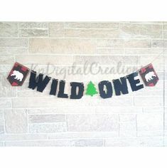 Wild One 1st Birthday Banner Decoration 1st Birthday Banners, Wall Banner, All Themes, Kids Party Supplies, Wild Ones, Decoration, Decor, Decorating, Decorations