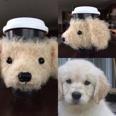 Golden Retriever Cozy Puppy Mug Dog Mug Coffee by HookedbyAngel
