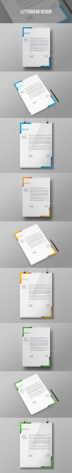 Corporate Simple Minimal Letterhead Design Design Template - Stationery Print Template PSD. Download here: https://graphicriver.net/item/letterhead-design/19400018?ref=yinkira