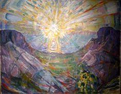 """Edvard Munch: """"Solen"""" (The Sun), 1910-13"""