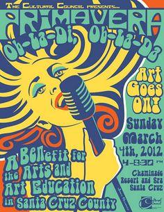 Art and Design by Janet Allinger: psychedelic poster design