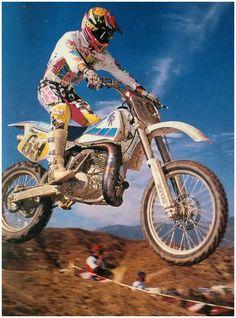Damon Brabschaw Yamaha WR 1991 Yamaha Motocross, Yamaha Wr, Mx Bikes, Dirt Bikes, 2 Stroke Dirt Bike, Old Scool, Beast From The East, Off Road Bikes, Off Road Racing