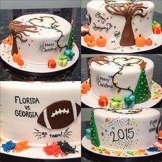 Seasonal themed cake K Noelle Cakes